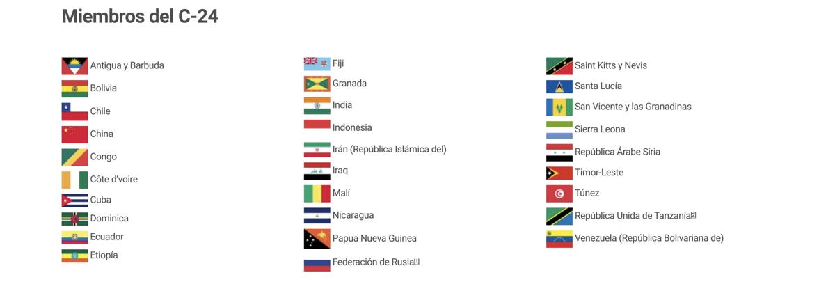 Los miembros del Comité de Descolonización de la ONU.