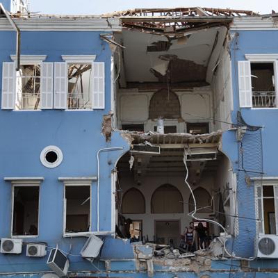 Los habitantes de Beirut lloran la devastación de la ciudad