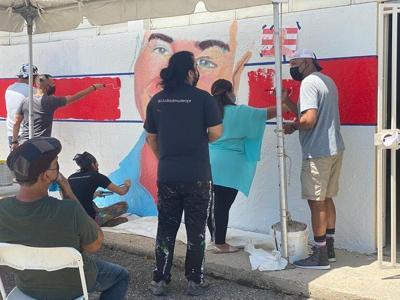 Realizan mural en memoria de Albert Rodríguez