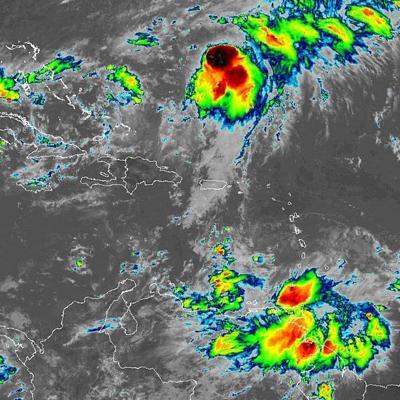 Tormenta tropical Karen continúa con vientos de 40 mph