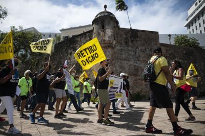 Protesta contra el PAD