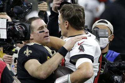 Brady gana duelo a Brees en triunfo de Tampa Bay ante Saints