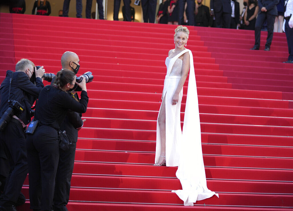 Sharon Stone Cannes 2021 Red Carpet