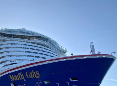 Carnival Mardi Gras Cruise Ship Docked in Florida