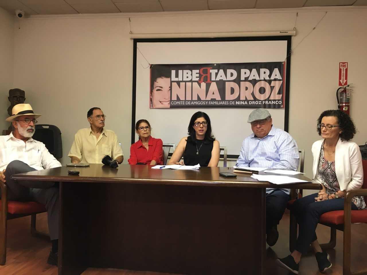 Reiteran denuncia de que Nina Droz fue procesada de forma selectiva
