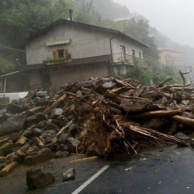 El norte de Italia está sufriendo fenómenos meteorológicos extremos