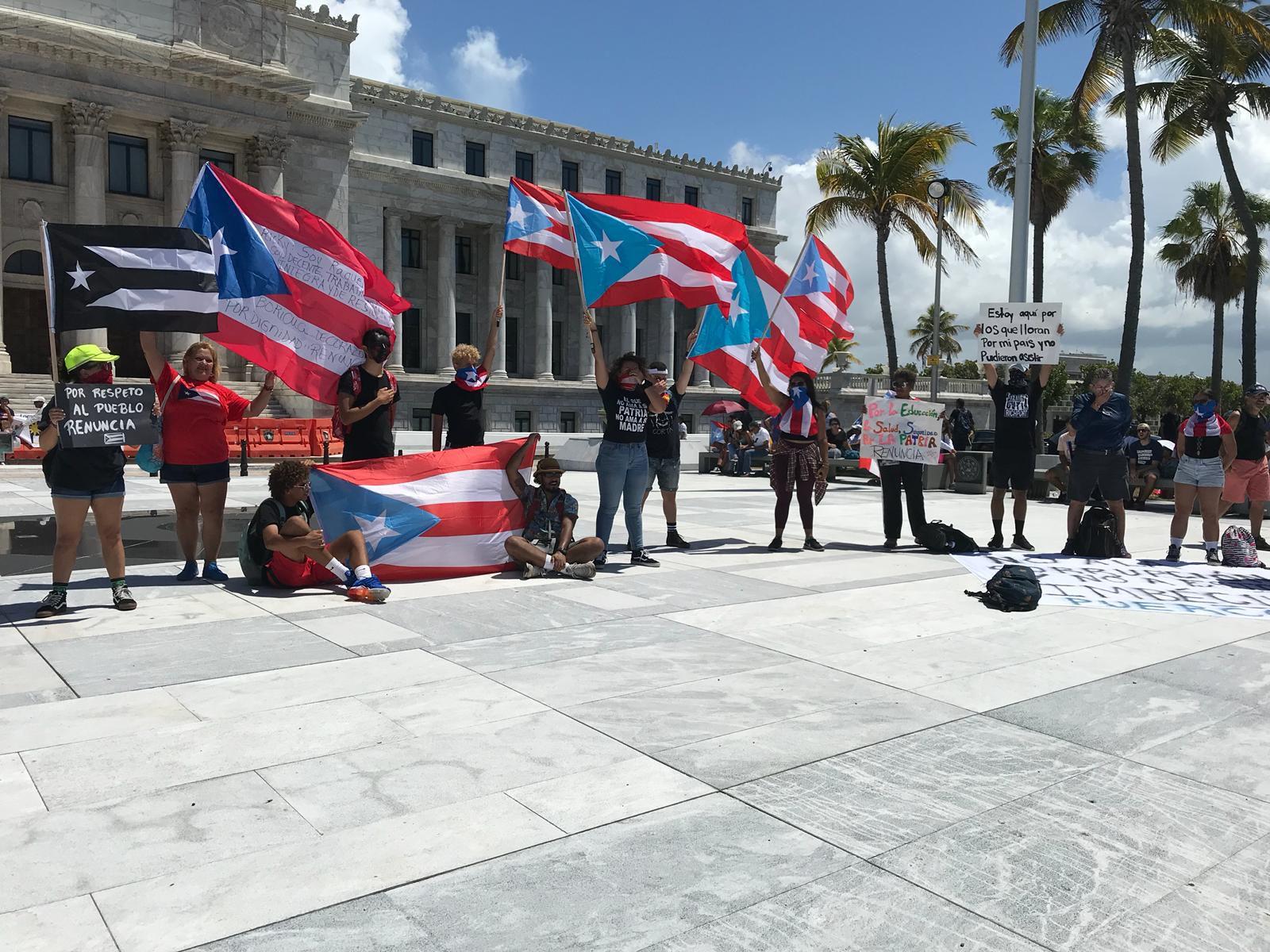 Comienzan a llegar los manifestantes al Capitolio