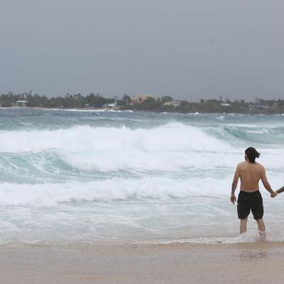En efecto riesgo moderado de corrientes marinas