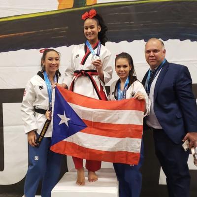 Nueve medallas para Puerto Rico en taekwondo