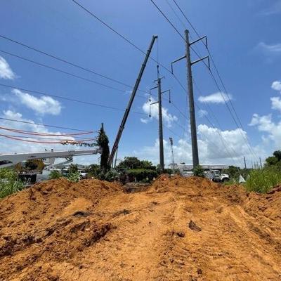 La AAA continúa trabajos de reparación en Añasco con apoyo de LUMA