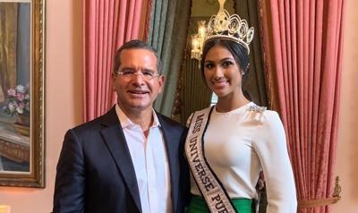 Miss Universe Puerto Rico llega a La Fortaleza