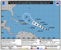Atentos al desarrollo de la depresión tropical
