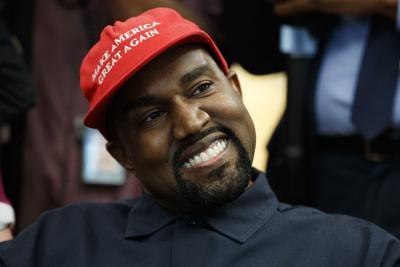 APTOPIX Trump Kanye West