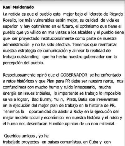Mensajes de Raúl Maldonado