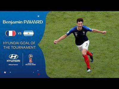 Aficionados: Pavard anotó el mejor gol del Mundial