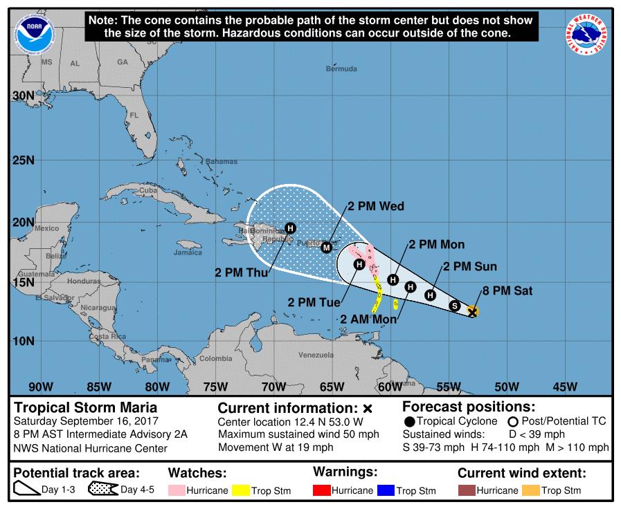 María sigue su ruta amenazante al Caribe — EN VIVO