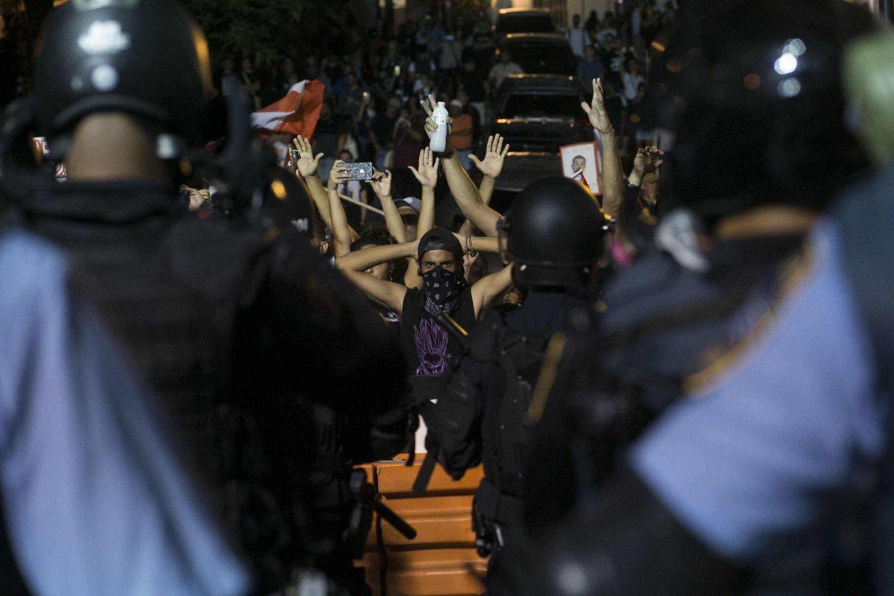 Sexto día de protestas en La Fortaleza