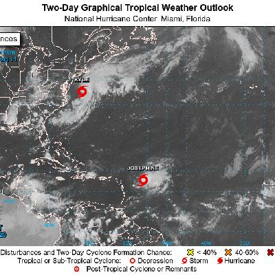 Se forma la tormenta tropical Kyle en costa atlántica de EEUU
