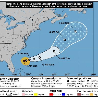 Huracán Humberto azotará las Bermudas