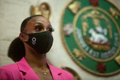La Legislatura de Puerto Rico homenajea a Jasmine Camacho-Quinn