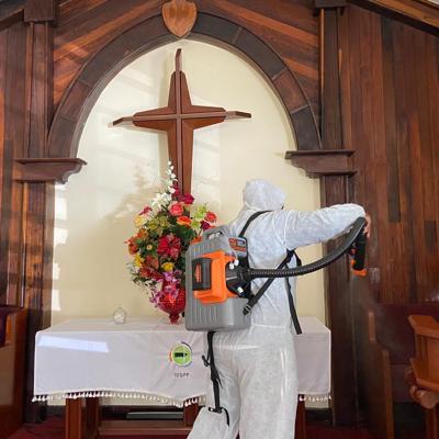 Desinfectan 43 iglesias de Ceiba
