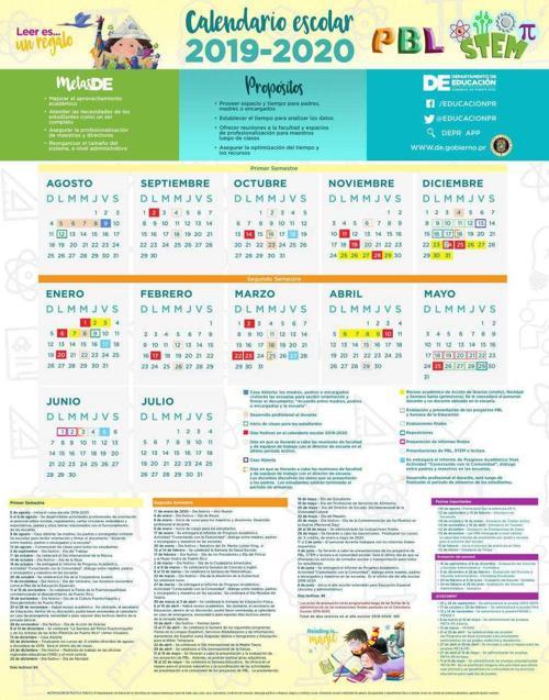 Calendario Julio Y Agosto 2020.Calendario Escolar 2019 2020 Jpg Elvocero Com