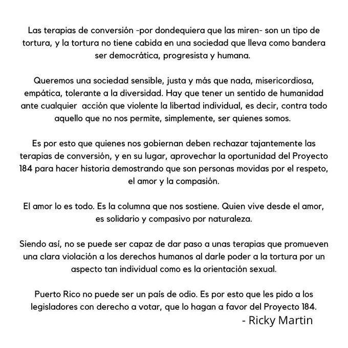 Expresiones Ricky Martin