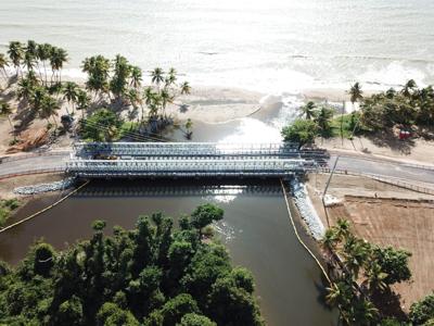Reabren puente de Tropical Beach en Naguabo
