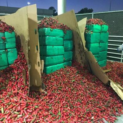 California: Incautan 3.4 toneladas de marihuana en jalapeños