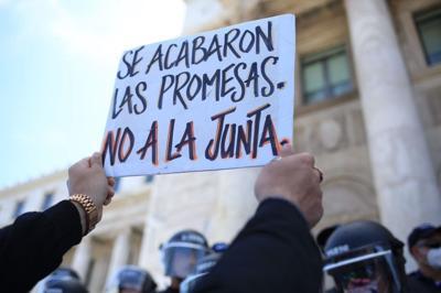 Organizaciones protestan contra el plan de recortes de la Junta de Control Fiscal