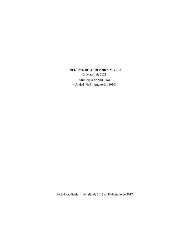 Informe del Contralor