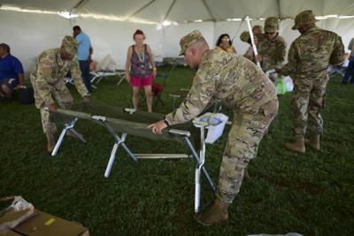 Ejército coloca duchas y lavanderías en refugios