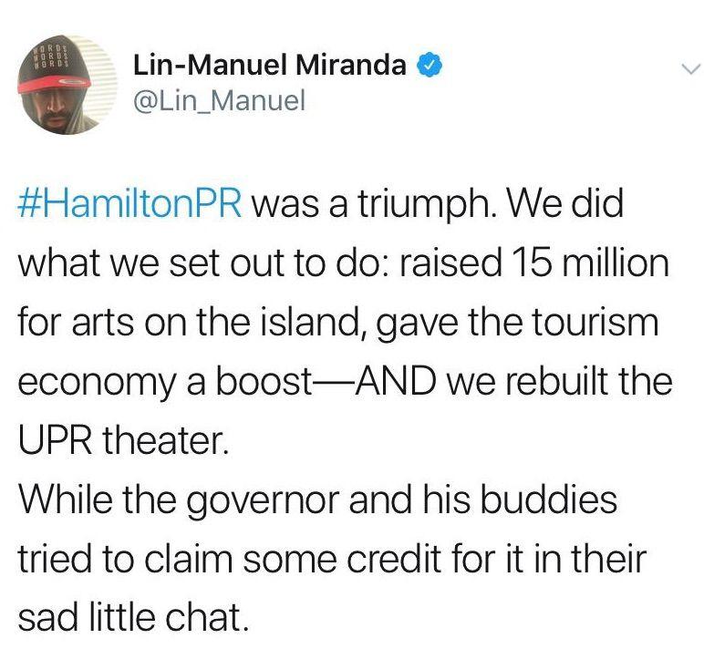 Lin Manuel reaccion chat