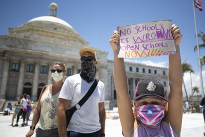 Manifestacion, Capitolio, Estudiantes, Abran las Escuelas, covid-19, Pandemia, Coronavirus