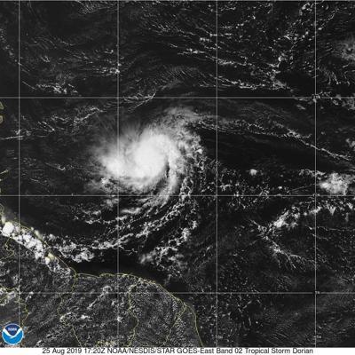 Mejor organizada tormenta tropical Dorian