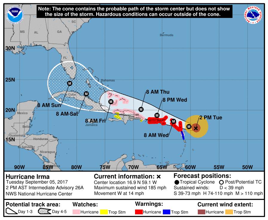 Expiró aviso de huracán mientras Irma se aleja de Puerto Rico