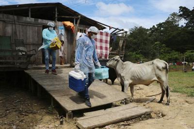 APTOPIX Virus Outbreak Brazil - Vaccination Amazon