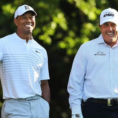 Woods y Brady animan una entretenida exhibición de golf