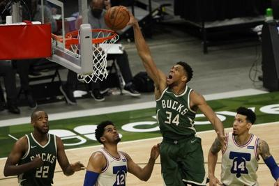 Bucks trituran a 76ers