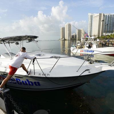 Una flotilla sale de Miami en apoyo a las protestas de los cubanos