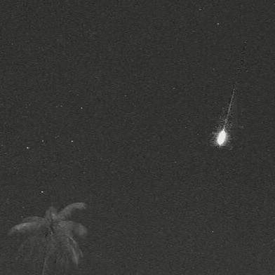 Fragmento del famoso cometa Halley fueron visible desde la Isla durante esta madrugada