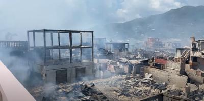Un incendio arrasa con una isla caribeña