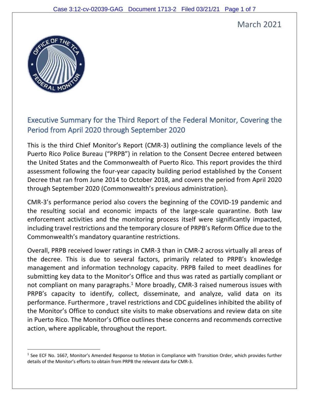 Informe del monitor federal