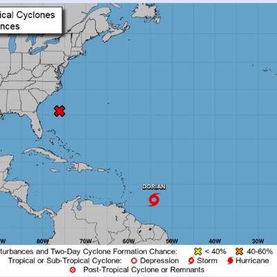 Se intensifican los vientos de la tormenta tropical Dorian