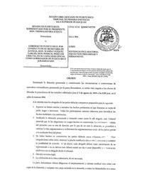 Orden de tribunal
