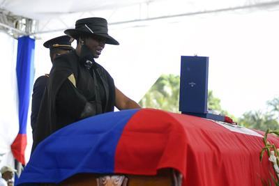 Así fue el funeral del presidente de Haití en su ciudad natal