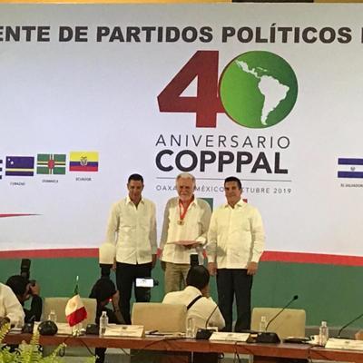 Exaltado Berríos Martínez en el 40 aniversario de la Copppal