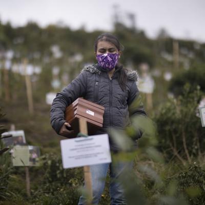 Plantan árboles con cenizas de víctimas de covid-19 en Colombia