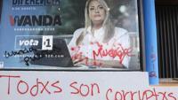 Vandalizan comité de Wanda Vázquez