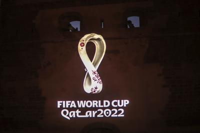 Toques invernales en logo de Qatar 2022